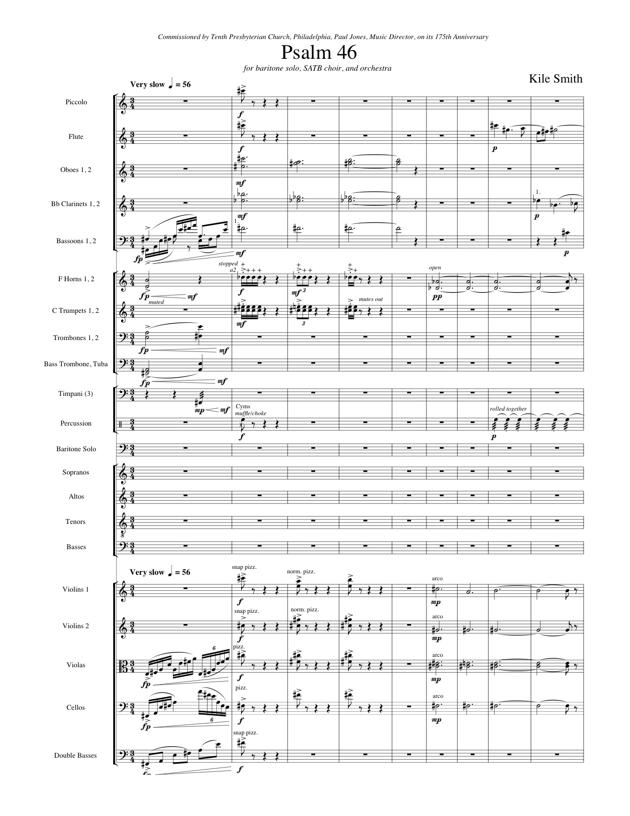 Choral and vocal music kile smith composer first page piano sc baritone 2222 2231 timp1perc satb str 14 hexwebz Choice Image