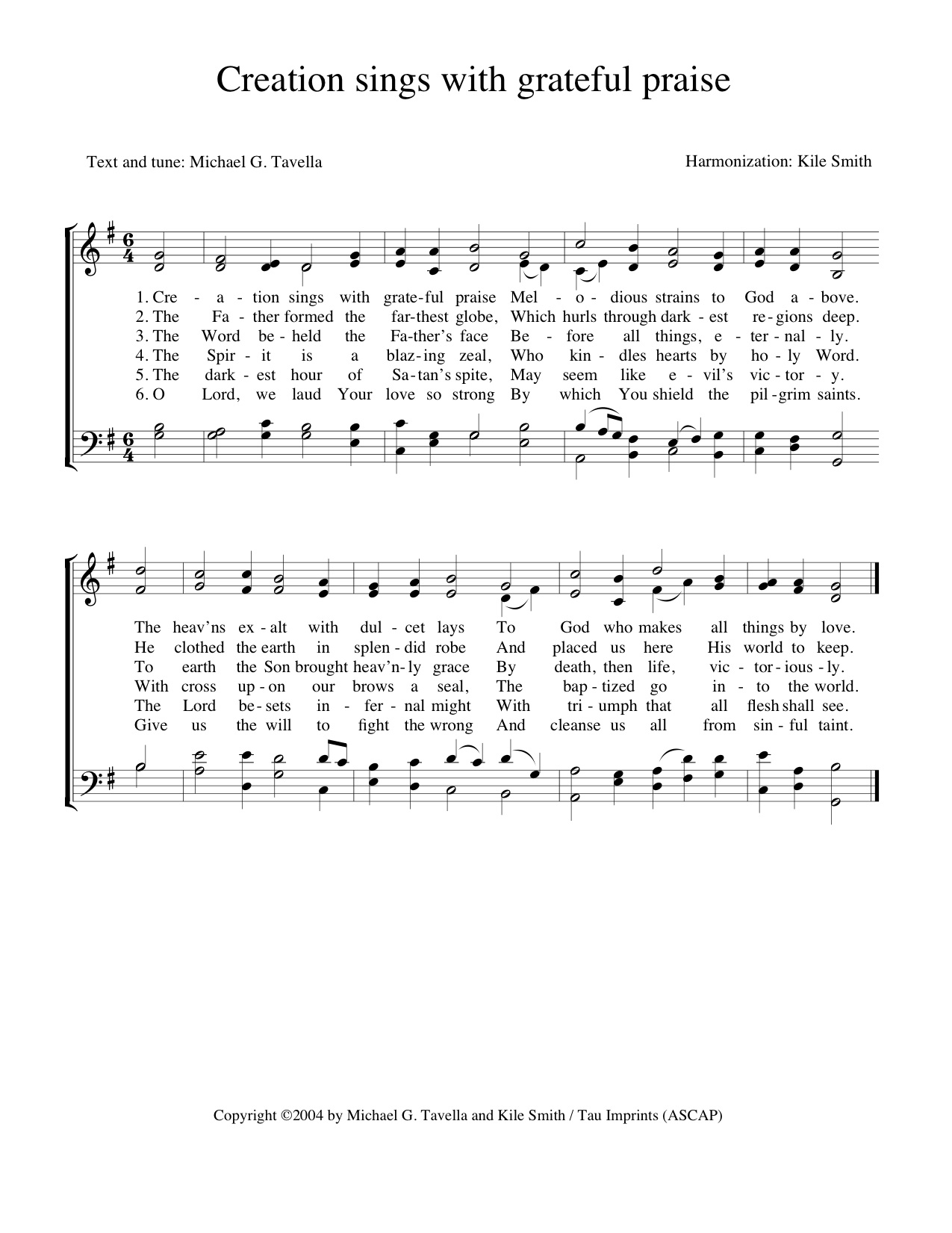 Choral and vocal music kile smith composer text by michael g tavella harmonization and voicing only tune by michael g tavella hexwebz Choice Image